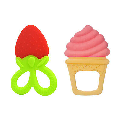 Baby Teething Toys Soft Sensory BPA Free Natural Silicone Fruit Teethers