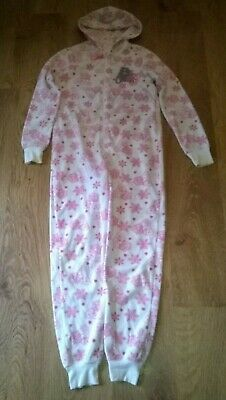 Girls Cream and Pink Winter Tatty Teddy Onesy 1nsie Age 12-13 Years Nightwear
