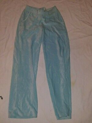 Weekend Women's Light Blue Ribbed Velour Stretch Pants Size S Very Nice(C)