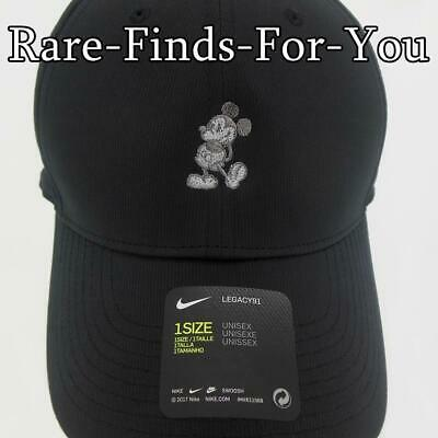Disney Parks Mickey Mouse Nike Dri Fit Black Grey Golf Baseball Cap Hat NEW/TAGS