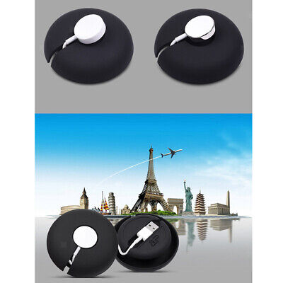 Soft Silicone Rubber Charge Dock Case with Cable Winder for Apple Watch