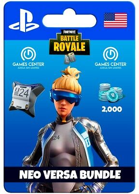Fortnite Neo Versa Bundle PS4 Epic Outfit, Back Bling + 2000 V-Bucks EUROPE ONLY