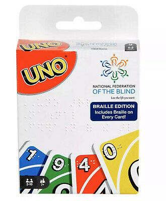 New Mattel Uno Braille Edition Card Game National Federation of the Blind