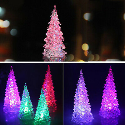 Mini Christmas Tree LED Night Lights Ornaments Desk Table Decor Lamp Xmas Gift