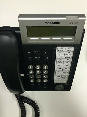 ✅ REFURBISHED. Panasonic KX-DT333SP-B KX-DT333 Charcoal digital 24 Button phone