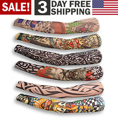 Fake Temporary Tattoo Sleeve Full Arm Sunscreen Tattoo Sleeves Slip On Lifelike