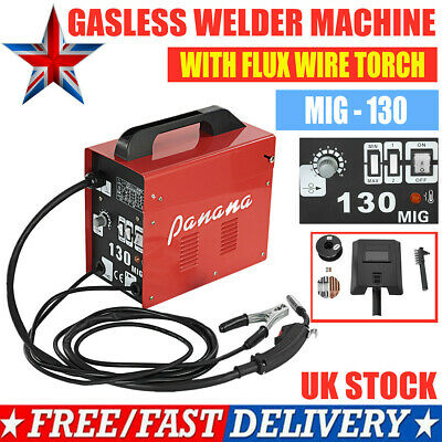 UK MIG - 130 Gasless Welder Welding Portable Machine Kit Flux No Gas Profession