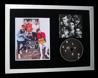 Why Don't We+Signed+Framed+Hooked+8 Letters=100% Authentic+Express Global Ship