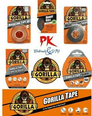 Gorilla Tape Range - Duct Tape/Double Sided/Repair Waterproof Strong Hold