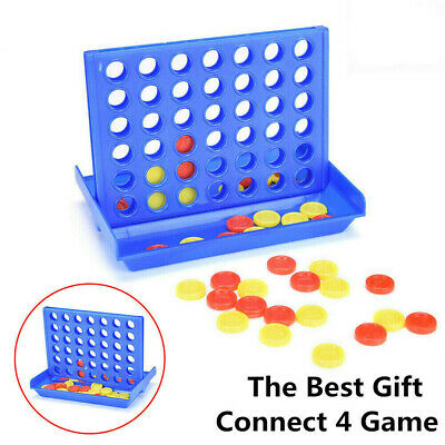 Four in a Line Row Connect 4 Mini Travel Car Holiday Family Game Toy Fun Gift