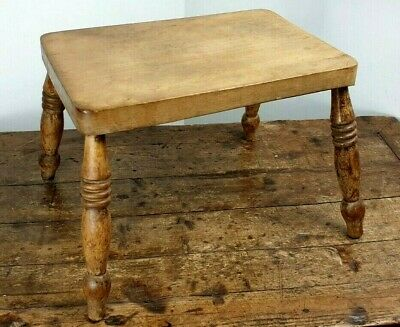 Stool Milking Seat Antique Edwardian Chair Pine Design Made On Scotland