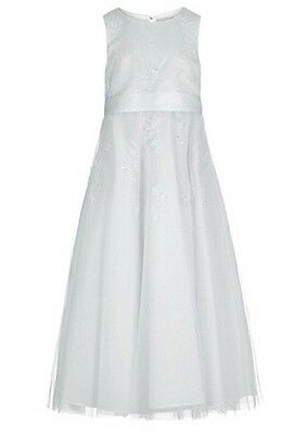 DEBENHAMS JOHN ROCHA IVORY EMBROIDERED MESH OCCASION DRESS - Age 4 - BNWT £77