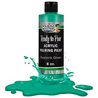 Pouring Masters Peacock Green 8-Ounce Bottle Water-Based Acrylic Pouring Paint