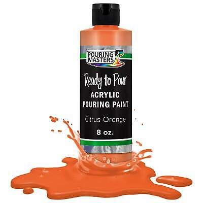 Pouring Masters Citrus Orange 8-Ounce Bottle Water-Based Acrylic Pouring Paint