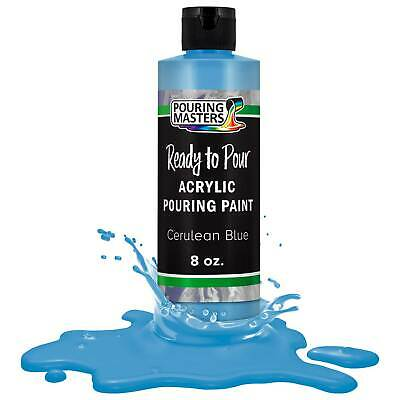 Pouring Masters Cerulean Blue 8-Ounce Bottle Water-Based Acrylic Pouring Paint