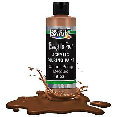 Pouring Masters Copper Penny Metallic 8-Ounce Water-Based Acrylic Pouring Paint