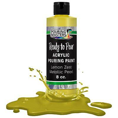 Pouring Masters Lemon Zest Metallic Pearl 8-Ounce Acrylic Pouring Paint