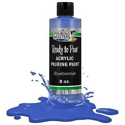 Pouring Masters Bluebonnet 8-Ounce Bottle of Water-Based Acrylic Pouring Paint