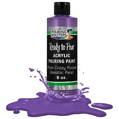 Pouring Masters Plum Crazy Purple Metallic Pearl 8-Ounce Acrylic Pouring Paint