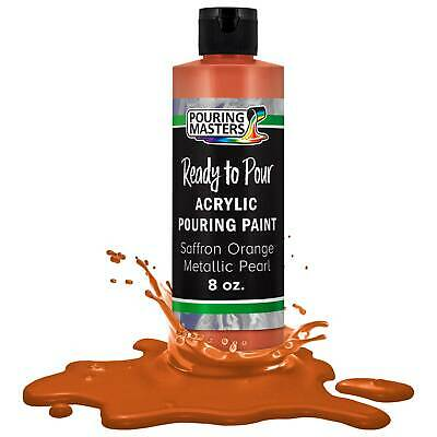 Pouring Masters Saffron Orange Metallic Pearl 8-Ounce Acrylic Pouring Paint