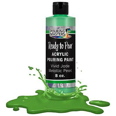 Pouring Masters Vivid Jade Metallic Pearl 8-Ounce Acrylic Pouring Paint