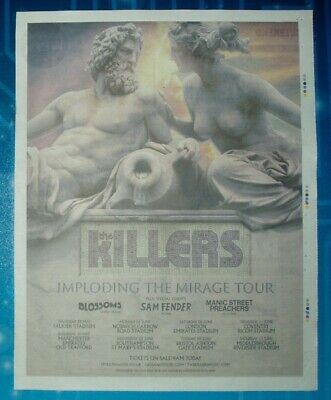 THE KILLERS - UK Stadium Concert 2020 - Large Newspaper Ad Poster - 280 x 360mm