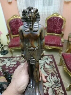 Antique Statue Rare Ancient Egyptian Pharaonic King Tutankhamun Bc