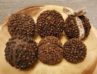 6 Pomander Balls Dried Orange&Cloves CHRISTMAS CRAFT WREATH FLORIST DECORATION