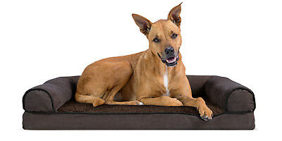 Faux Fleece & Chenille Soft Woven Orthopedic Sofa Pet Bed Dog Bed