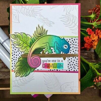 """Tropical Flowers - Hero Arts Clear Stamps 4""""X6"""""""