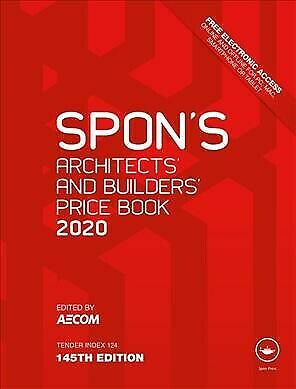 Spon's Architects' and Builders' Price Book 2020, Hardcover by Aecom (EDT), L...
