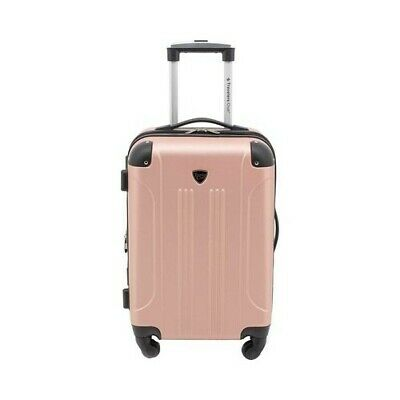 """Travelers Club Unisex  Chicago III 20"""" Hardside Spinner Carry-On Rose Gold Size"""