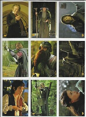 Topps Lord of the Rings FELLOWSHIP RETAIL PUZZLE STICKER Set 1-10 + Wrap 2001