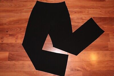 Calvin Klein Collection Womens High Rise Wide Leg Trousers Pants Black Size 4
