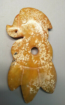 Hongshan culture ,collectibles,Chinese old jade pendants K350