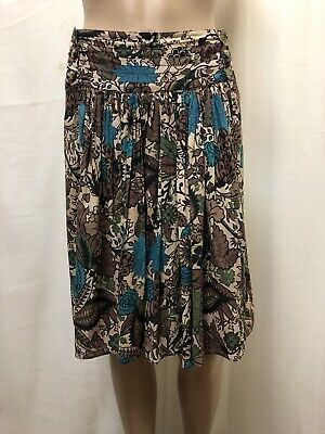 Scanlan Theodore Skirt Women ~ Size 10 ~ Great Cond Floral Print Pleated Casual