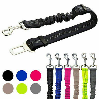 Anti Shock Pet Dog Car Safety Seat Belt Clip Bungee Lead Vehicle Travel Harness