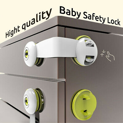 Baby Safety Lock Door Stopper Cupboard Drawer Refrigerator Cabinet Child Care
