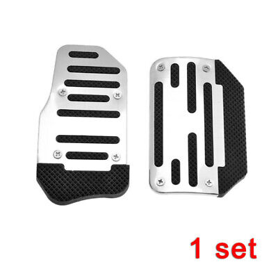 Universal Car Auto Silver Accelerator Brake Pedal Foot Pad Cover Anti-Skid Part
