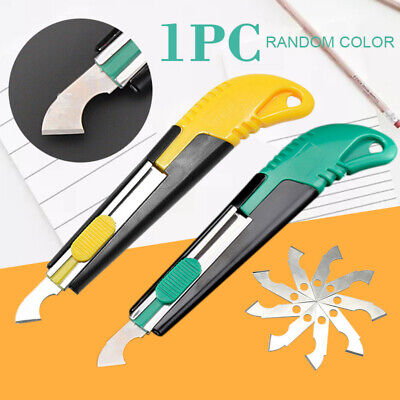 Acrylic Plastic Sheet Perspex Cutter Hook Cutting Tool W/10 Spare Blades Tools