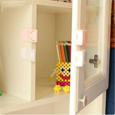Plastic Drawer Safety Lock Right Angle Self-locking Baby Safety Protect Lock LG