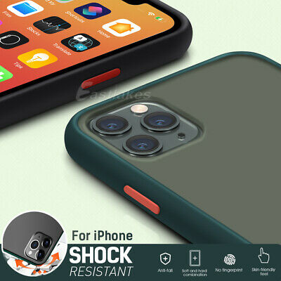 iPhone 11 Pro Max XS XR X Shockproof Slim Matte Bumper Case Cover Hard For Apple