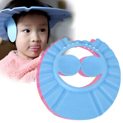 Baby Kids Child Shower Cap For Hair Wash Bath Soft Waterproof Protect Shield Hat