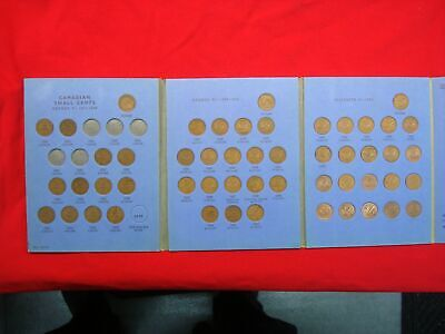 Canada Small Cent Set 1920 - 1972 > 49 Different Dates With Nice Folder