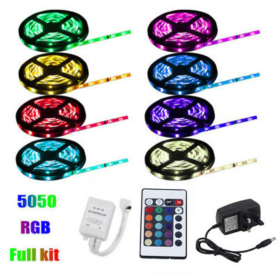 USB 1M-10M Light RGB Color 5050 LED Strip Lights TV Backlight + Remote Control