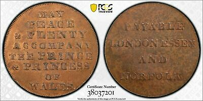 (1790's) Great Britain Conder Token Halfpenny PCGS MS63 Brown Lot#G603 DH-923
