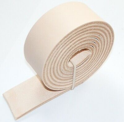 """3.5MM THICK NATURAL BUFF VEG TAN LEATHER BELT STRAPS  BLANKS 130cm - 51"""" INCH"""