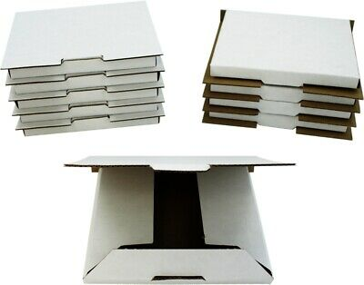 (10) White Sturdy Single CD Shipping Boxes Mailers Retail Video Games Multimedia