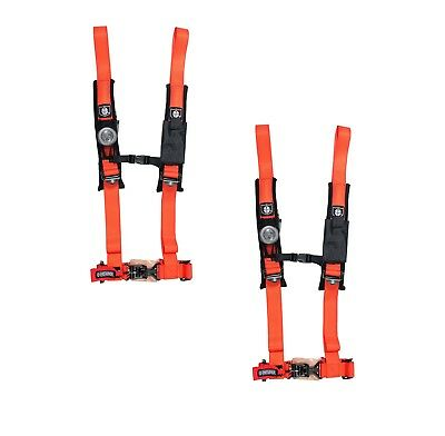 "Pro Armor 4 Point Harness 2"" Pads Seat Belt PAIR ORANGE Arctic Cat Textron All"