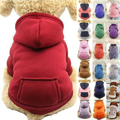 Pet Clothes Puppy Dog Hoodie Sweater Jumper Coat Warm Small Dogs Apparel Costume